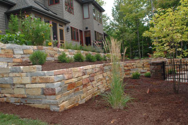 Retaining Walls Stone Steps Pillars Lang Landscape