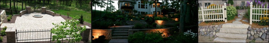 Landscape Lighting Contractors,Lang Landscape & Design,Retaining walls, Fencing,Wood Fences,Pillars,Fox Valley Web design,Appleton,Green Bay, WI, Door County,Black Creek, Seymour,Menasha