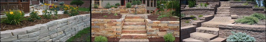 Retaining walls, Lang Landscape & Design, Fox Valley Web Design, Wisconsin Award Winning Landscaping company