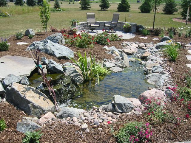 Ponds Waterfalls Waterfeatures Lang Landscape Llc Wisconsin